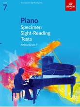 Picture of ABRSM Piano Specimen Sight Reading Tests Grade 7