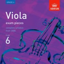 Picture of ABRSM Viola Exam Pieces From 2008 Grade 6 CD