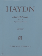 Picture of String Trios attributed to Haydn Volume 3