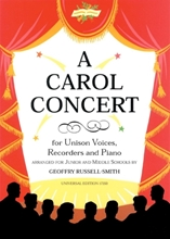 Picture of A Carol Concert for Unison Voices Recorders and Piano