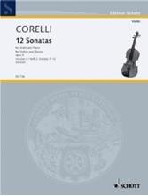 Picture of 12 Sonatas Op 5 Bk 2 Violin/Piano