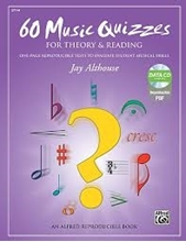 Picture of 60 Music Quizzes for Theory & Reading Bk/CD