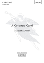 Picture of A Coventry Carol SATB/Organ