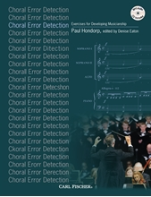 Picture of Choral Error Detection Book/CD