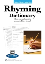 Picture of Mini Music Guide: Rhyming Dictionary