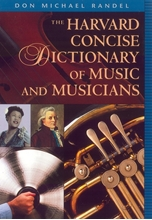 Picture of Harvard Concise Dictionary of Music and Musicians