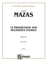 Picture of 75 Progressive and Melodious Studies Opus 36 Violin