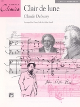 Picture of Clair de lune Simplified Piano Solo
