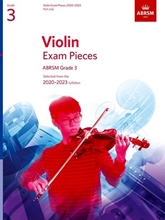 Picture of ABRSM Violin Grade 3 2020-23 Part Only