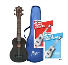Picture of TUS35 Flight Ukulele & Book Value Pack - Black