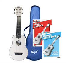 Picture of TUS35 Flight Ukulele & Book Value Pack - White