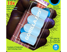 Picture of Gorilla Tips Finger Protector Clear Size Medium