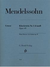 Picture of Mendelssohn Piano Trio No 1 D Minor Op 49 - Parts